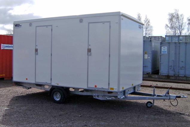 Vallavagnen-toalettvagn-badmobil. toalett dusch. Containerpoolen