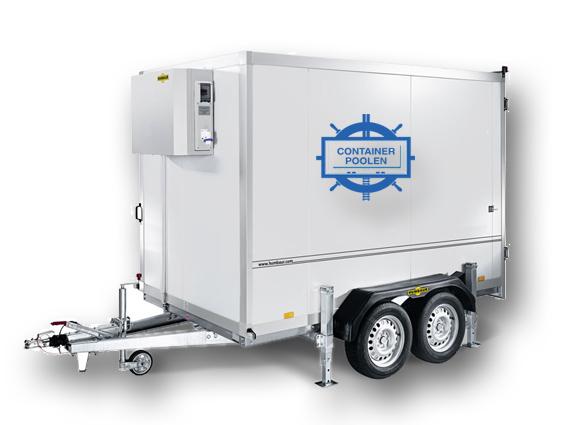 Kylvagn 3m containerpoolen mobilkyl kylsläp kylcontainer