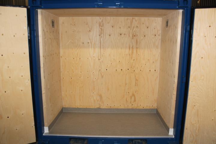 4ft Fraktcontainer plastmatta