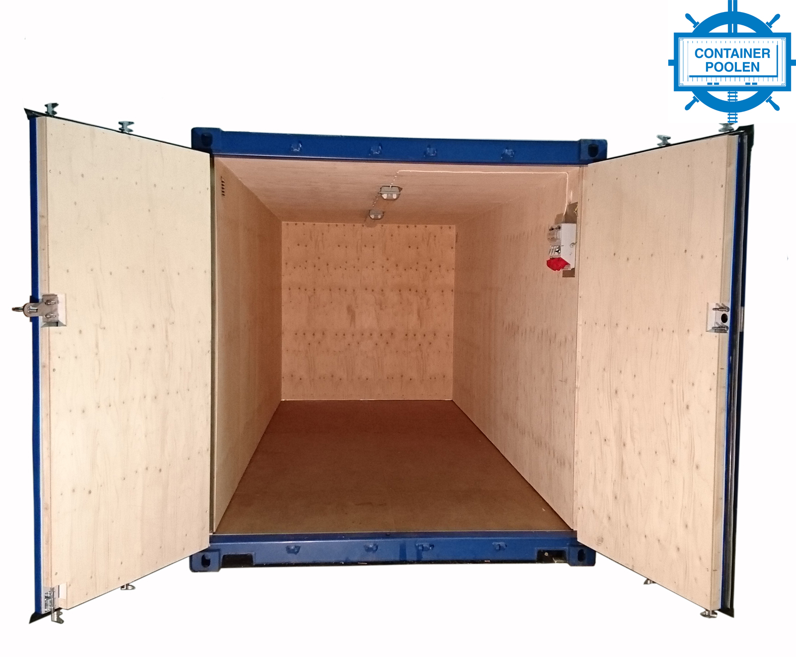 20ft Fraktcontainer isolerad