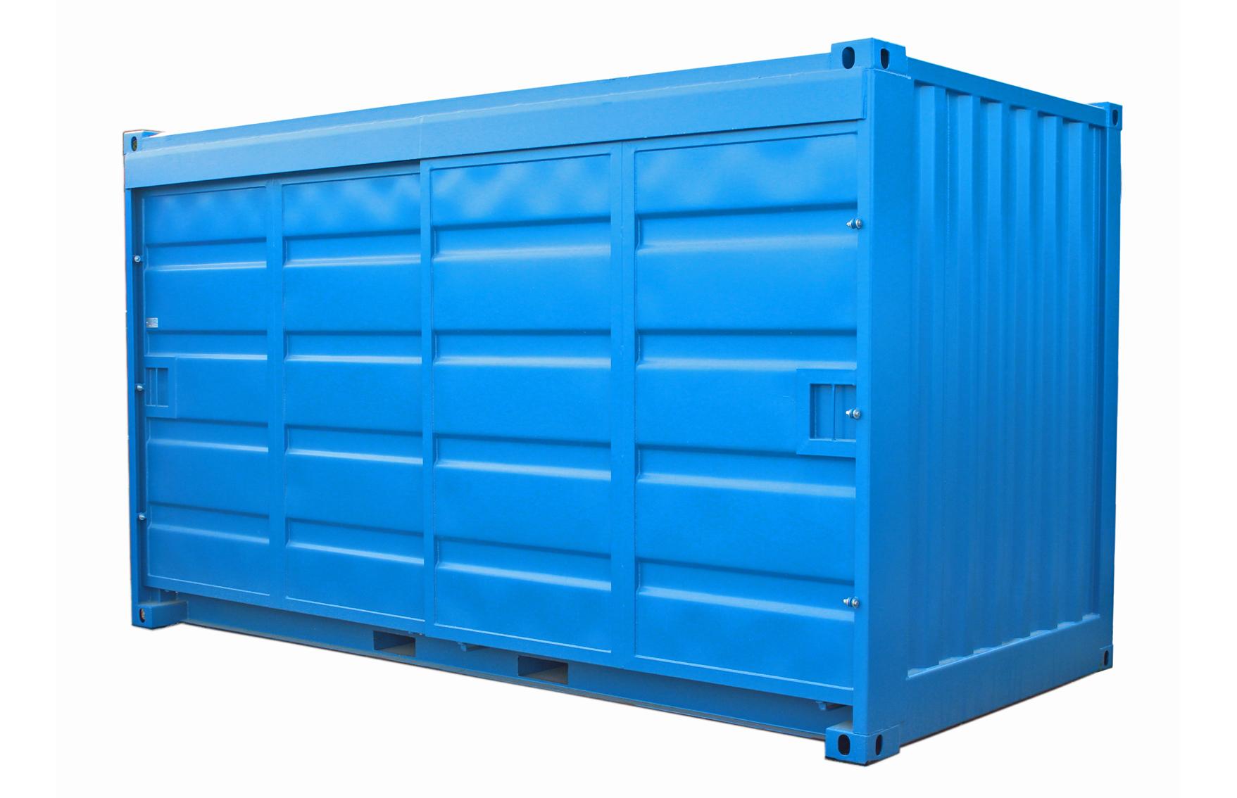 15ft Miljöcontainer med skjutdörrar