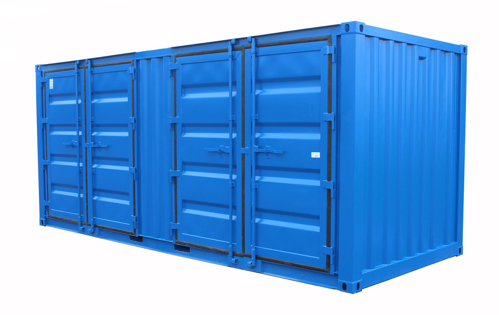 20ft Miljöcontainer DD långsida