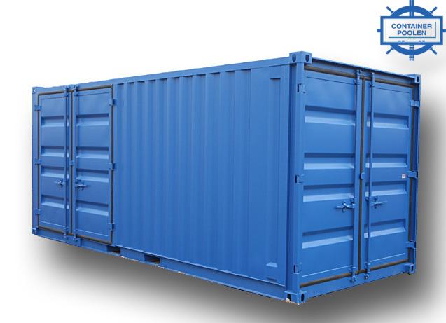 20ft Miljöcontainer DD långsida och kortsida