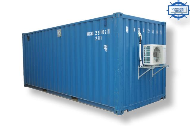 20ft Container med luftvärmepump