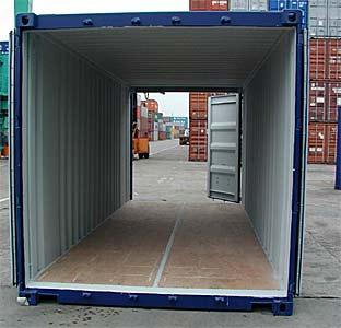 20ft Fraktcontainer med dubbeldörr