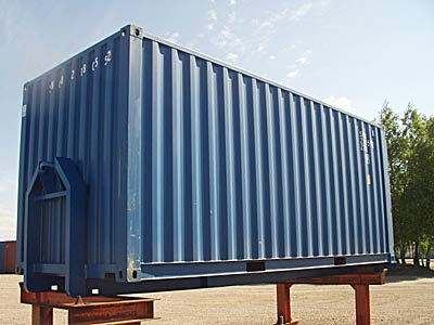 20ft Fraktcontainer på lastväxlarram