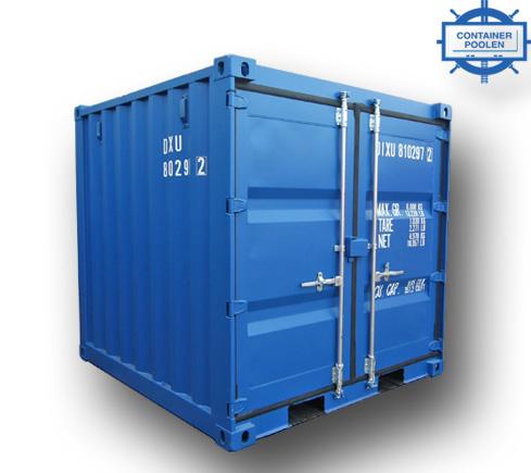 8ft Miljöcontainer cortenstål