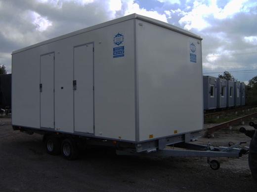 Toalettvagn dam-herr vallavagnen Containerpoolen