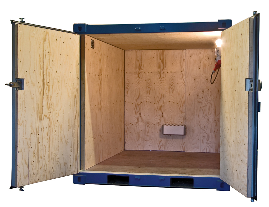 8ft Fraktcontainer isolerad
