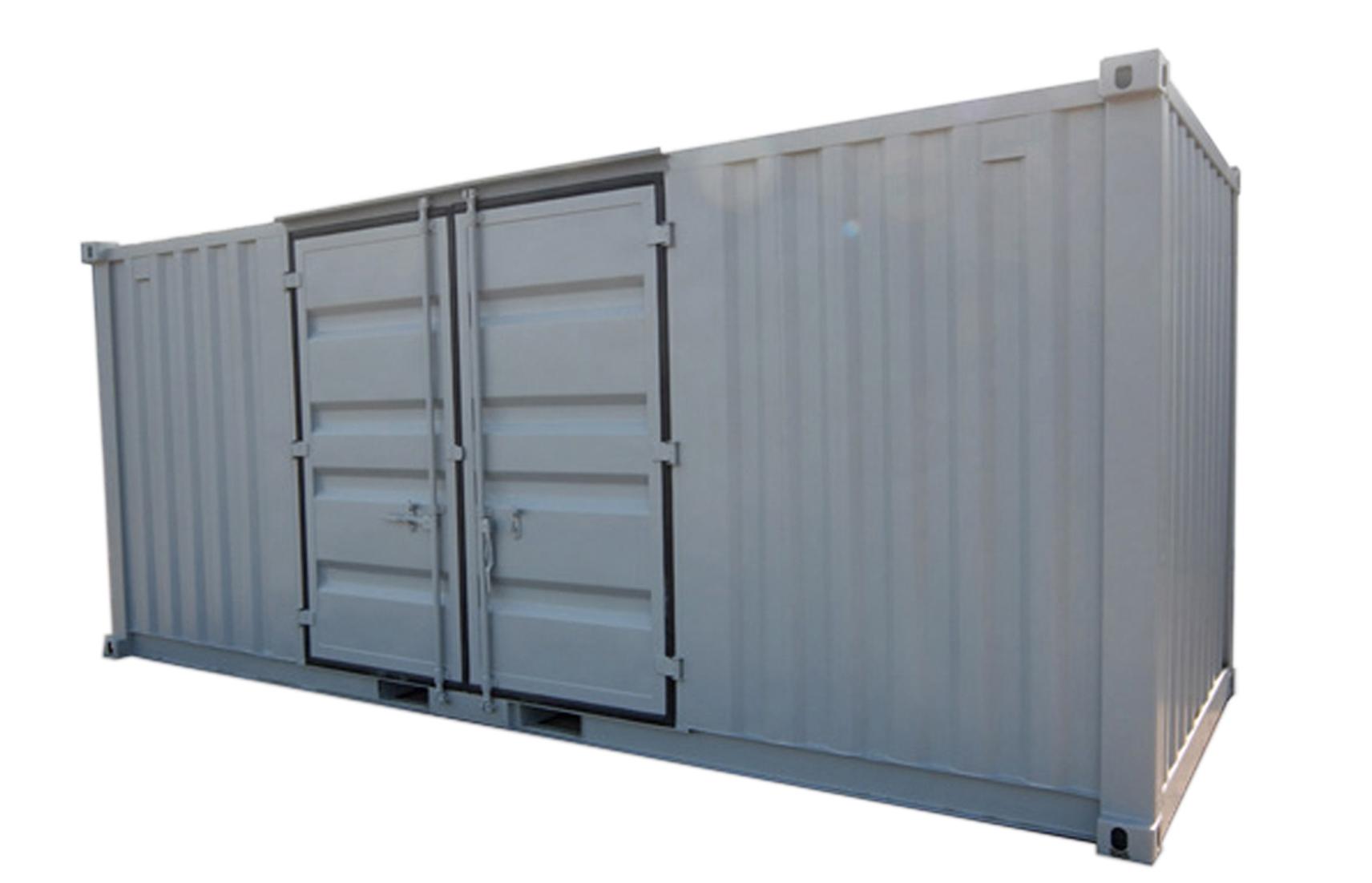 20ft Förrådscontainer med dörr på långsida