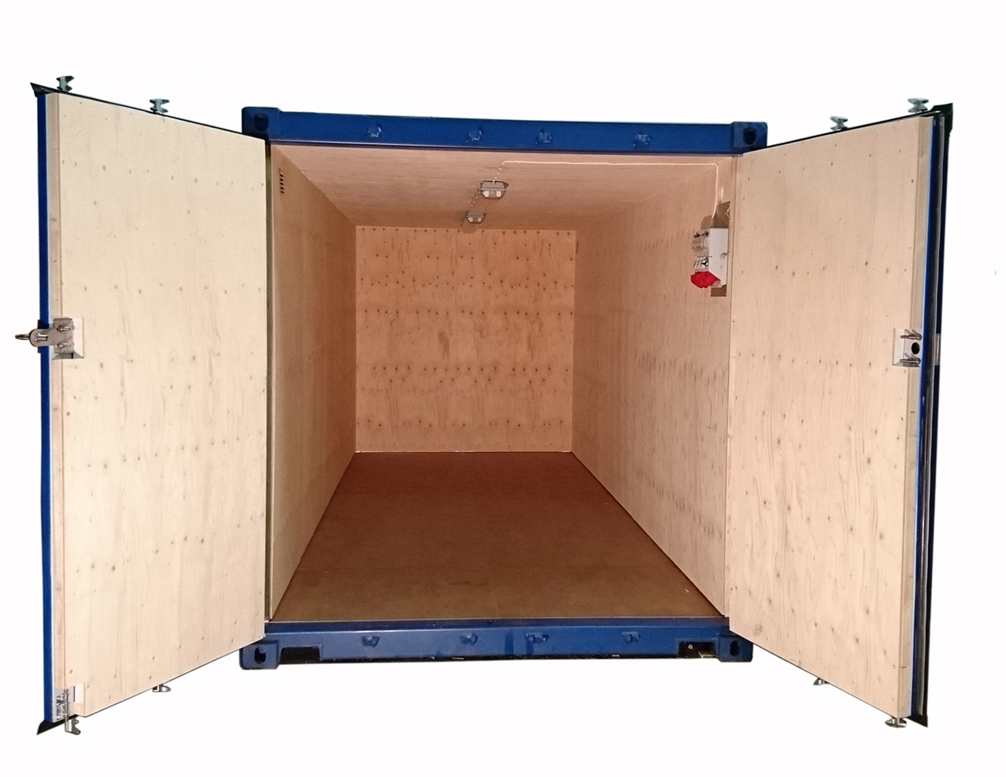 20ft Fraktcontainer isolerad