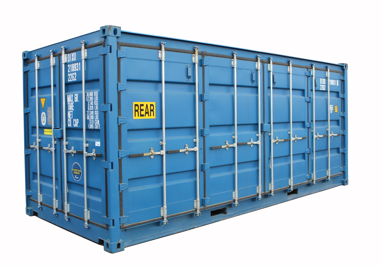 20ft Fraktcontainer Openside